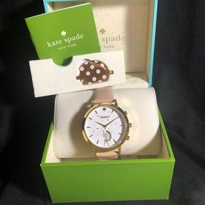 NWT Kate Spade Blush Leather Hybrid Smart watch